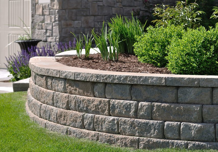 A Retaining Wall at a Residential Home